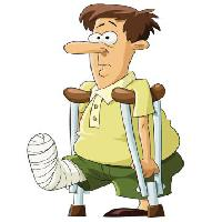 Pixwords The image with broken, leg, arms, face, doctor Dedmazay - Dreamstime