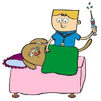 Pixwords The image with doctor, dog, shot Nilikha - Dreamstime